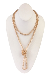 Riah Fashion Long-Knotted Rondelle-Beads-Necklace - Product Mini Image