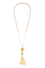 Riah Fashion Long Line Tassel Necklace - Front cropped