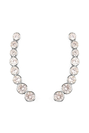 Riah Fashion Long Rhinestone Earrings - Front full body