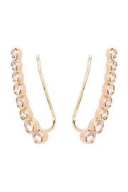 Riah Fashion Long Rhinestone Earrings - Side cropped