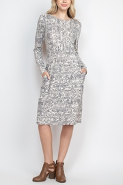 Riah Fashion Long-Sleeve-Loral-Print-Dress-With-Inseam-Pocket - Product Mini Image