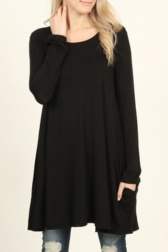 Shoptiques Product: Long-Sleeved Pocket Tunic-Top