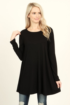 Shoptiques Product: Long-Sleeved Solid Tunic-Top