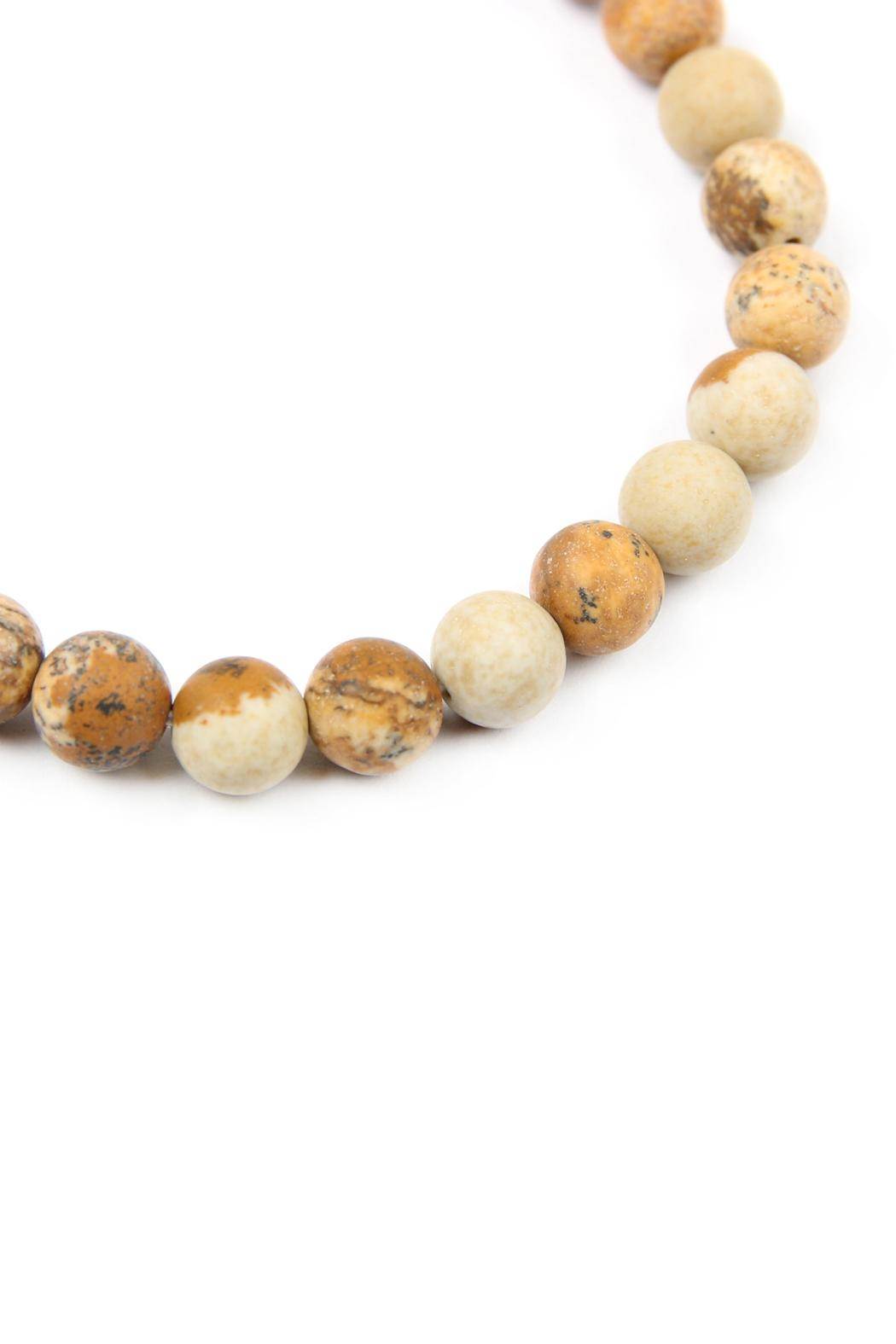 Riah Fashion Love-And-Be-Loved-Natural-Stone-Stretch-Bracelet - Front Full Image