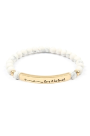 Riah Fashion Love-And-Be-Loved-Natural-Stone-Stretch-Bracelet - Front cropped