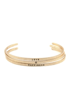 "Shoptiques Product:  ""Love-And-Happiness"" Bangle-Bracelet-Set"""