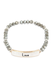 Riah Fashion Love Glass Beads Stretch Bracelet - Product Mini Image