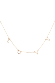 Riah Fashion Love Word Station Necklace - Product Mini Image