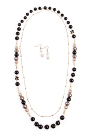 Riah Fashion Lucky Charm Necklace Set - Front cropped
