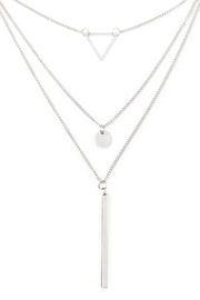 Riah Fashion Majestic Layered Necklace - Front full body