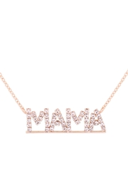 Riah Fashion Mama Letter Rhinestone Necklace - Front cropped