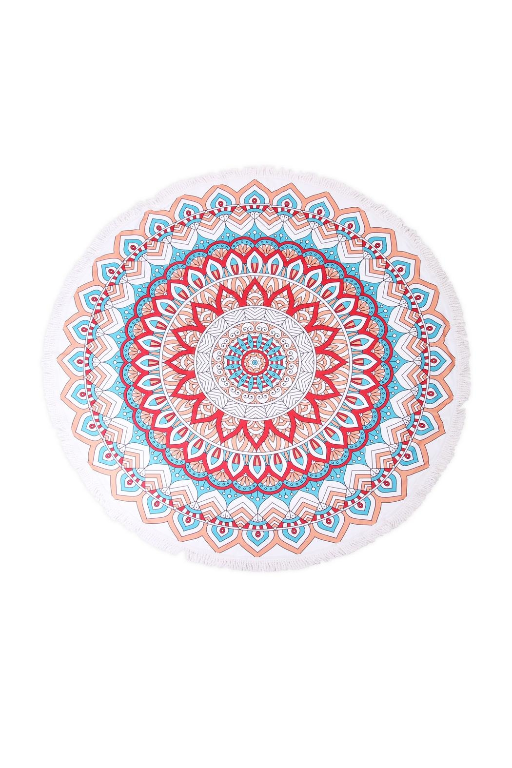 Riah Fashion Mandala Flower Towel - Main Image