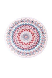 Riah Fashion Mandala Flower Towel - Front cropped