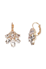 Riah Fashion Marquise-Lever Back Crystal-Earrings - Product Mini Image