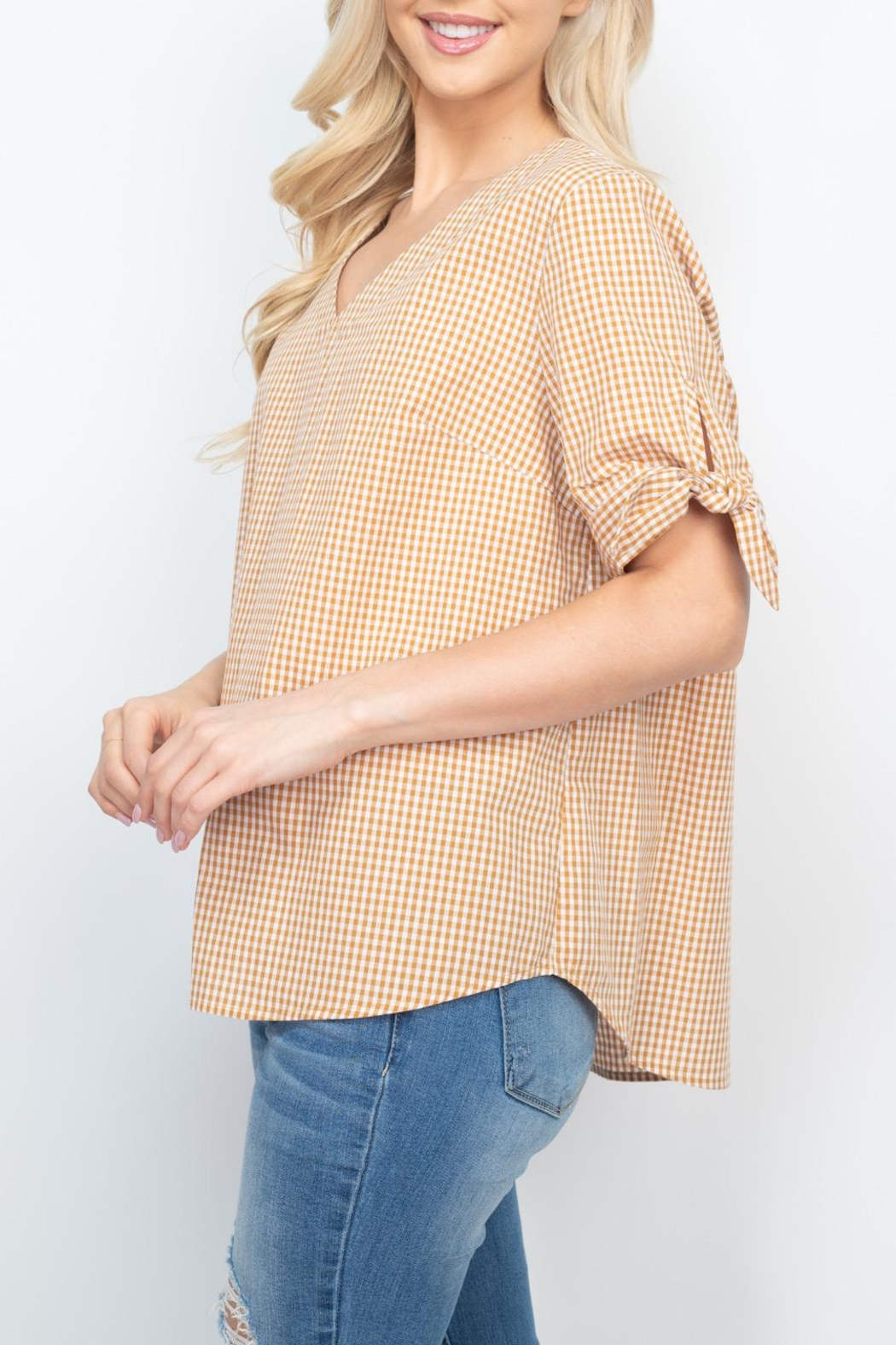 Riah Fashion Mary-Gold-Top - Side Cropped Image