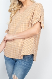 Riah Fashion Mary-Gold-Top - Back cropped