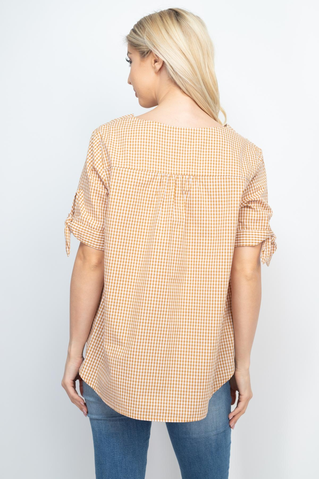 Riah Fashion Mary-Gold-Top - Front Full Image