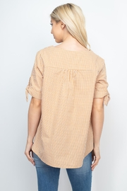 Riah Fashion Mary-Gold-Top - Front full body