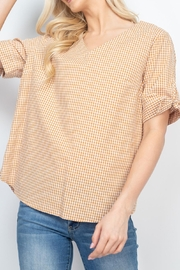Riah Fashion Mary-Gold-Top - Front cropped