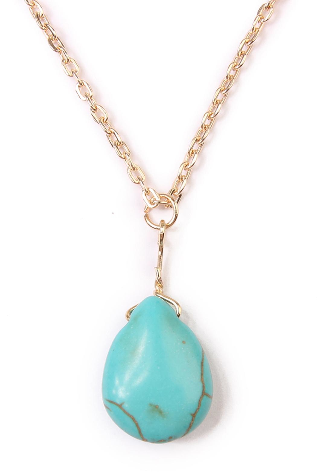 Riah Fashion Julia Matchstick Layer Necklace - Side Cropped Image