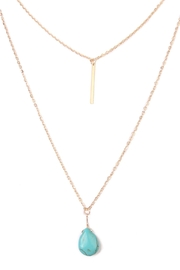 Riah Fashion Julia Matchstick Layer Necklace - Front full body