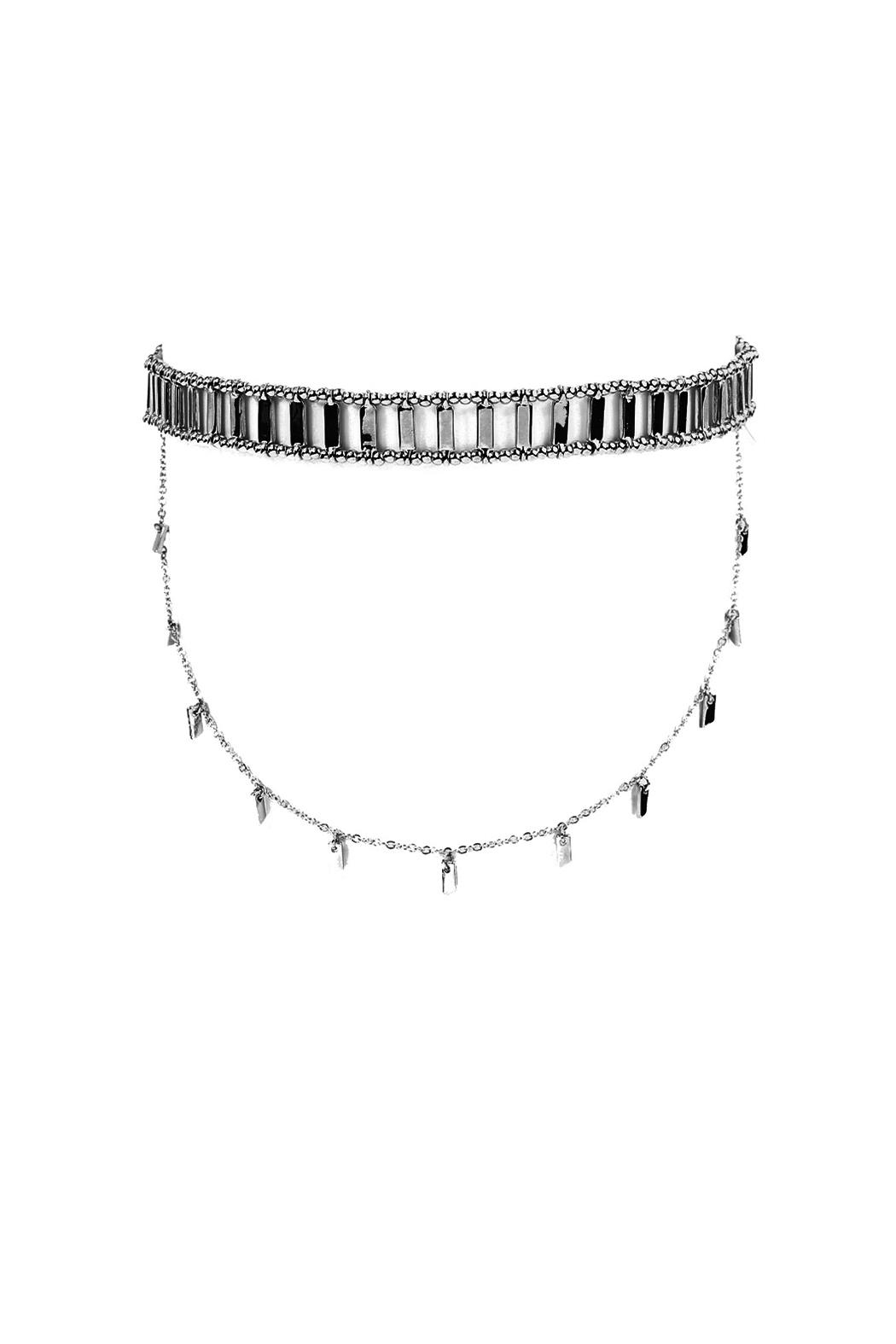 Riah Fashion Matchstick Layered Choker - Front Cropped Image