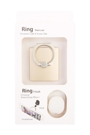 Riah Fashion Matt Square Phone-Ring-Holder-&-Hook-Set - Product Mini Image