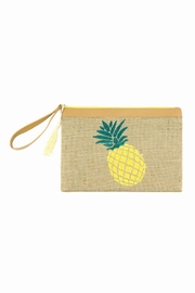 Riah Fashion Embroidered Pineapple Pouch - Product Mini Image