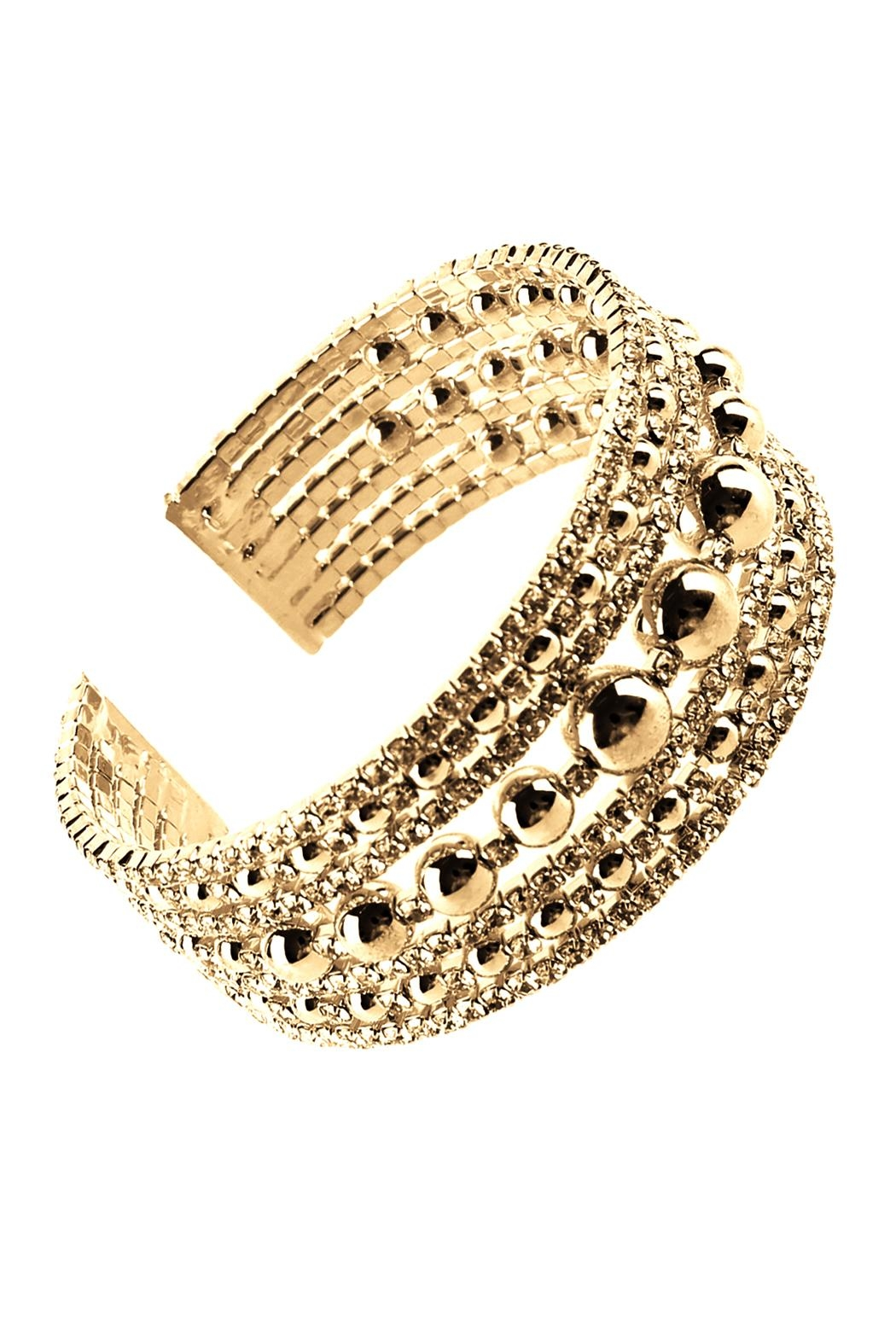 Riah Fashion Memory Cuff Bracelet - Front Cropped Image