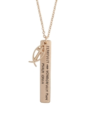 Riah Fashion Message-Fearfully-Charm-Pendant-Necklace - Product Mini Image