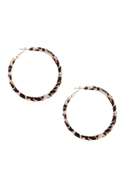 Riah Fashion Metal Animal Print-Hoop-Earrings - Product Mini Image