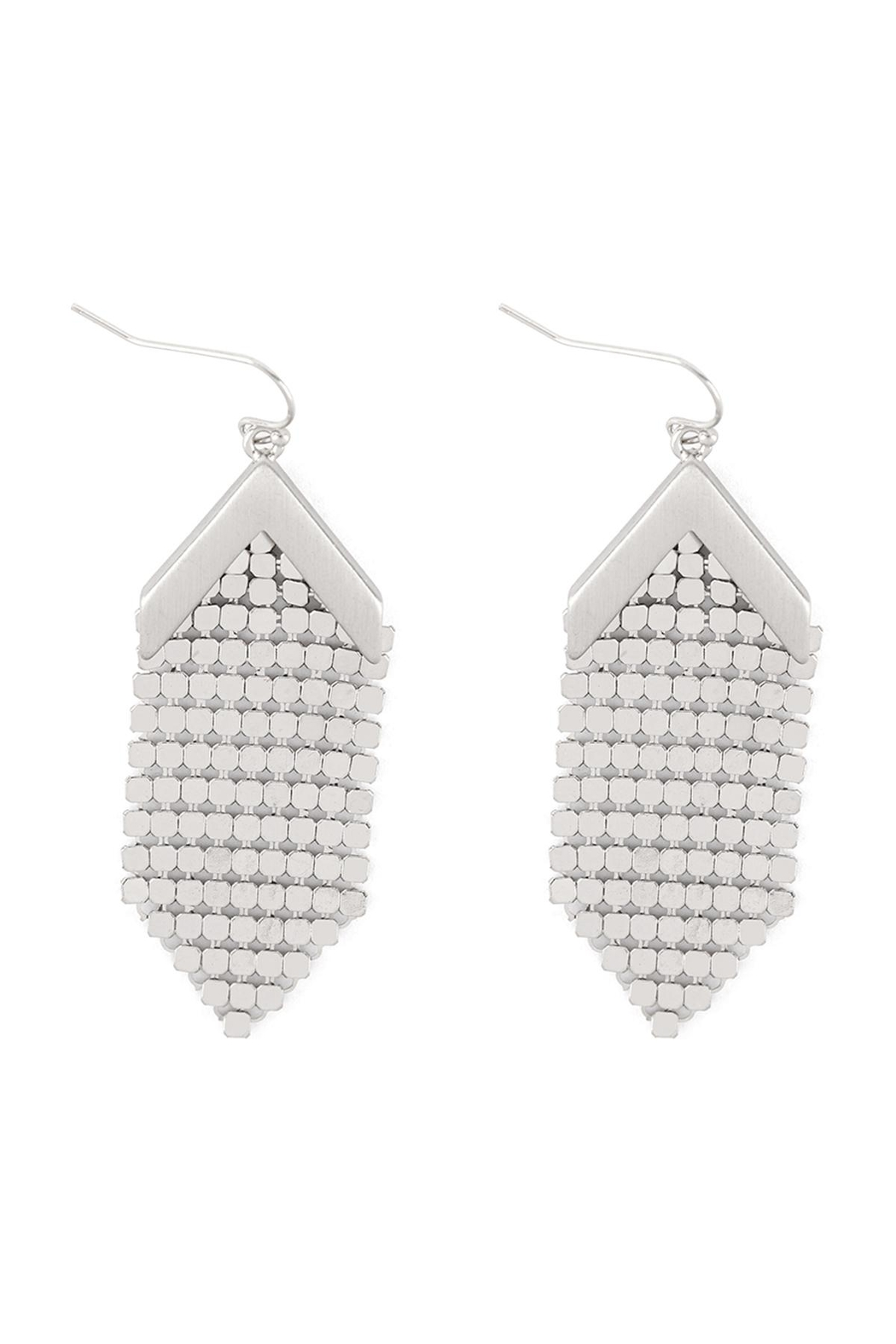 Riah Fashion Metal-Sequin-Statement-Drop-Earrings - Front Cropped Image