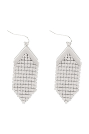 Riah Fashion Metal-Sequin-Statement-Drop-Earrings - Front cropped