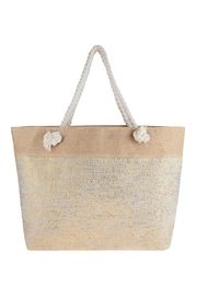 Riah Fashion Metallic Design Weaved Tote Bag - Product Mini Image