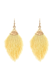 Riah Fashion Mini Fringe Tassel Drop-Earrings - Product Mini Image