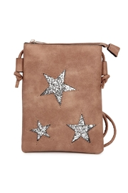 Riah Fashion Mini Pu Crossbody Star Leather Bag - Product Mini Image