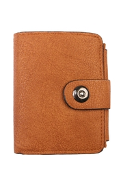 Riah Fashion Brown Faux Leather Wallet - Product Mini Image