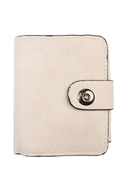 Riah Fashion Beige Faux Leather Wallet - Product Mini Image