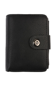 Riah Fashion Black Faux Leather Wallet - Product Mini Image