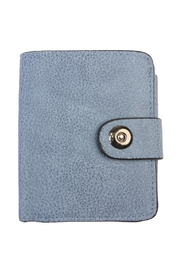 Riah Fashion Blue Faux Leather Wallet - Product Mini Image