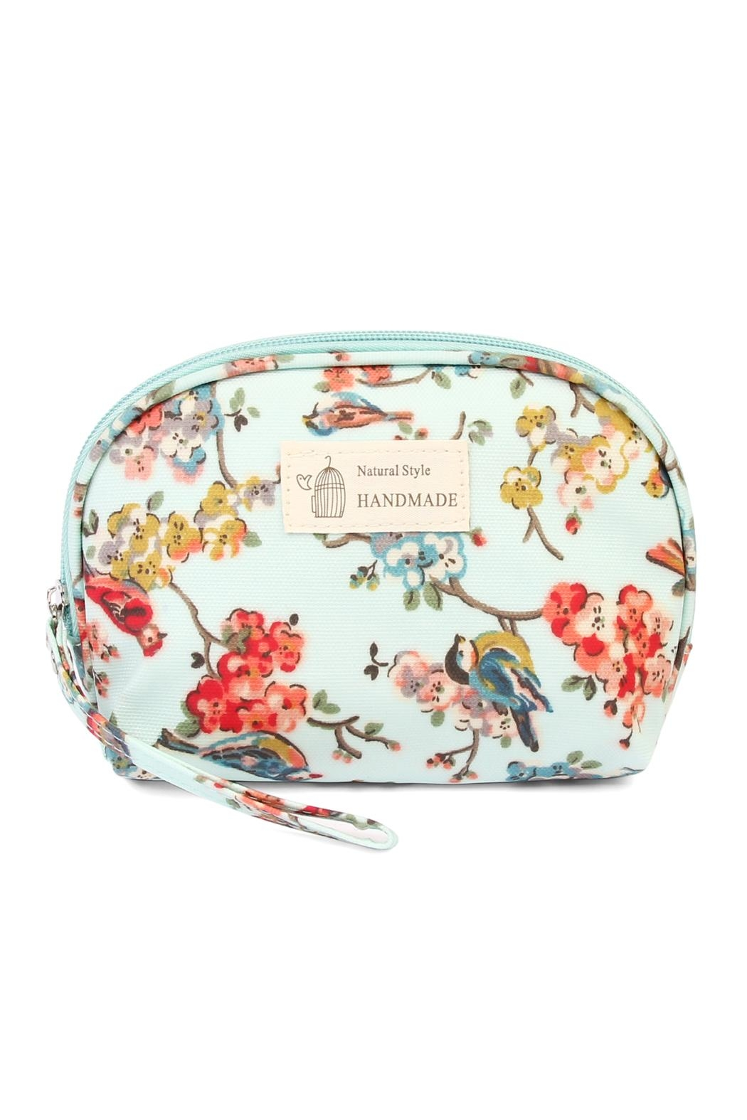 Riah Fashion Bird Petite Cosmetic Bag - Front Cropped Image