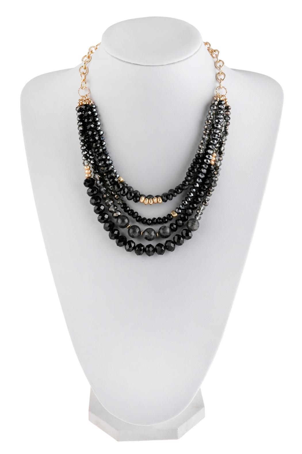 Riah Fashion Mixed-Beads Statement Necklace - Main Image
