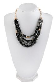 Riah Fashion Mixed-Beads Statement Necklace - Front cropped
