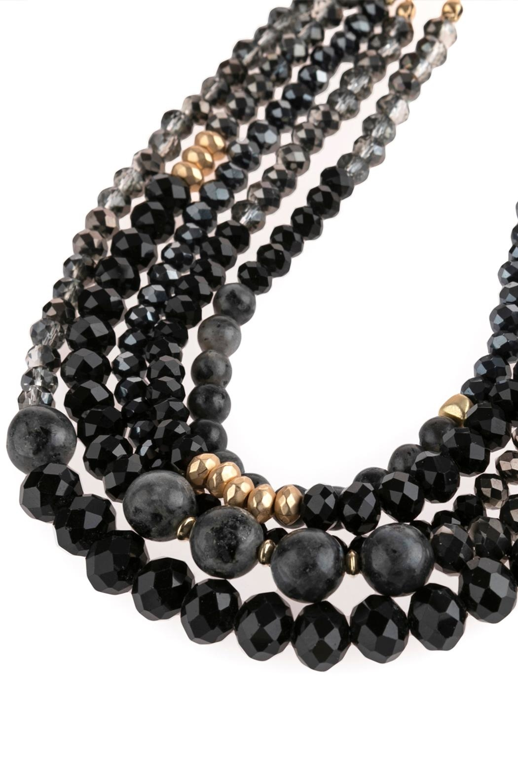 Riah Fashion Mixed-Beads Statement Necklace - Side Cropped Image