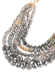 Riah Fashion Mixed-Beads Statement Necklace - Side cropped