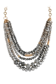 Riah Fashion Mixed-Beads Statement Necklace - Front full body
