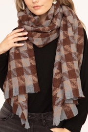 Riah Fashion Mixed-Houndstooth-Oblong-Scarf - Product Mini Image