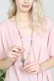 Riah Fashion Mixed-Stone-Beads Lanyard-Necklace - Side cropped