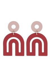 Riah Fashion Modern-Arch-Color-Coated-Earrings - Product Mini Image