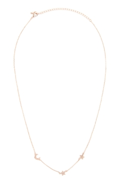 Riah Fashion Moon & Star Chain Necklace - Alternate List Image